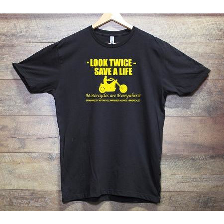 Look Twice Black Tee shirt