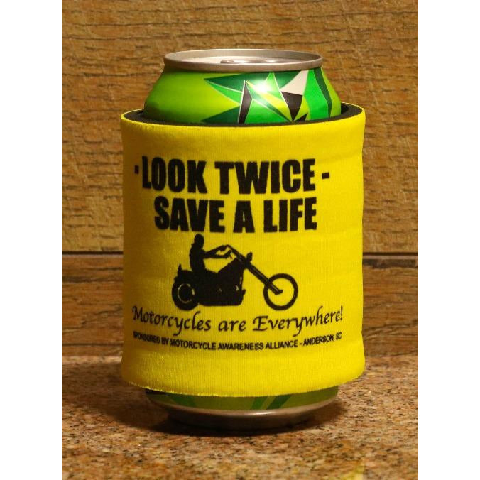 Look Twice Save a Life Slap Koozie