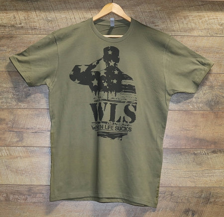 WLS Military Green Tee shirt