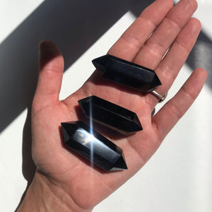 Black Obsidian Double Terminated Points