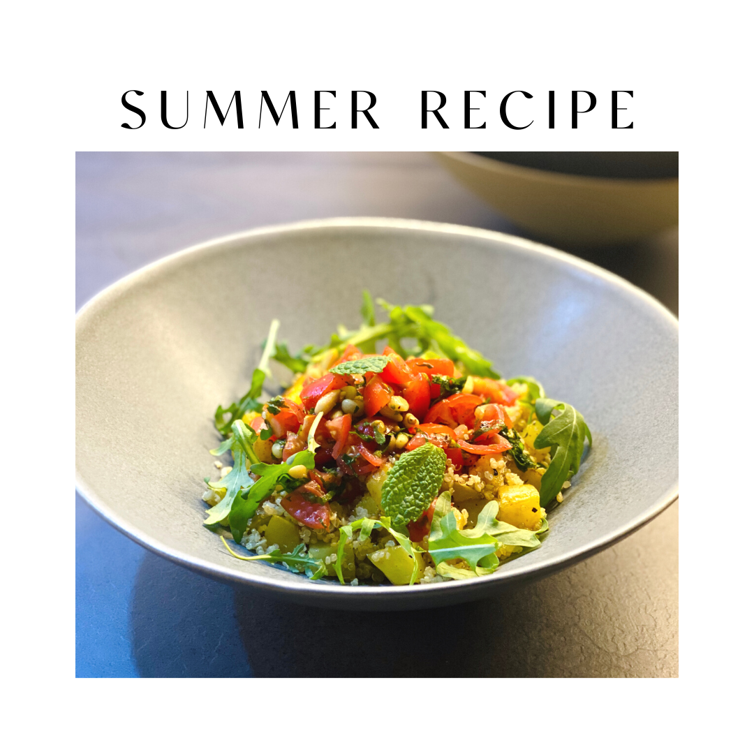 Spring Protein Salad Recipe: Quinoa, Potato & Pine Nut Salsa