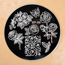 Load image into Gallery viewer, Nail Art Round Nail Stainless Steel Stamping Plates