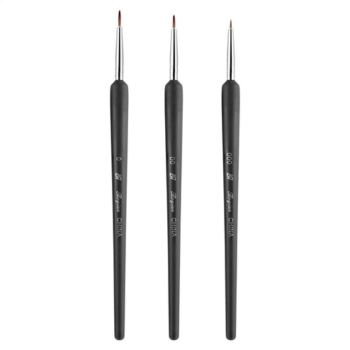 Nail Art Tiny Tips Painting Brush 3pcs Set