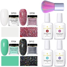 Load image into Gallery viewer, Nail Dipping Powder Glittery 9 Pcs Set