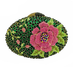 Rhinestone Crystal Flower Designer Party Purse