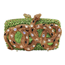 Load image into Gallery viewer, Rhinestone Snake Designer Party Purse