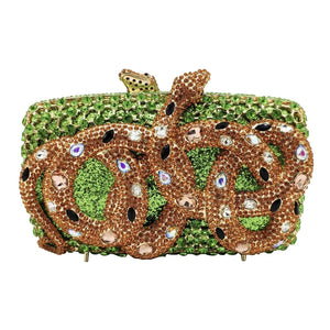 Rhinestone Snake Designer Party Purse