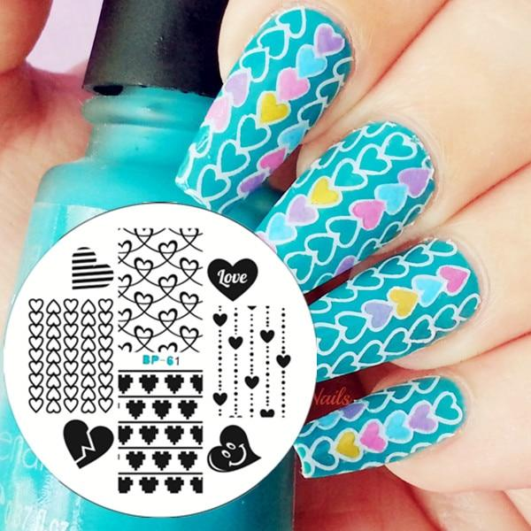 Stamping Plate Love Heart Nail Art