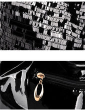 Load image into Gallery viewer, Vegan Leather Sequin Embellished Handbag