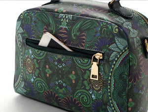 Vintage Girlfriends Love Printed Zipper Messenger Handbag