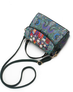 Vintage Girlfriends Love Printed Messenger Handbag