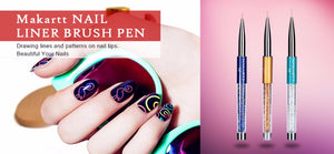 Nail Art Liner Brushes 3 Pcs Set