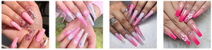 Acrylic Nails Poly Gel Extension 3 Pcs Kit