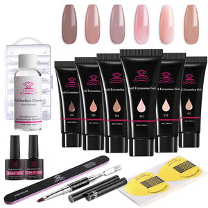 Acrylic Nails Poly Gel Extension 13 Pcs Kit