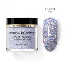 Load image into Gallery viewer, Nail Dipping Powder Holographic 10 ml 12 Pcs Set