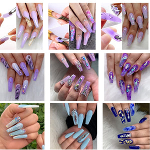 Acrylic Nails Poly Gel Extension 10 Pcs Kit