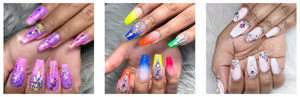 Acrylic Nails Poly Gel Extension 9 Pcs Kit