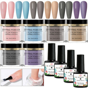Nail Dipping Powder Kit 10 Pcs Set