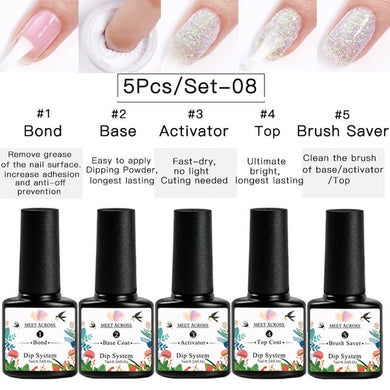 Nail Dipping Powder System 5 Pcs Set
