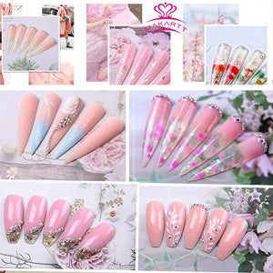 Acrylic Nails Poly Gel Extension 17 Pcs Kit