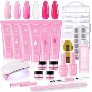 Acrylic Nails Poly Gel Extension 19 Pcs Kit