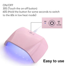 Load image into Gallery viewer, LED 18W UV Nail Lamp with Timer