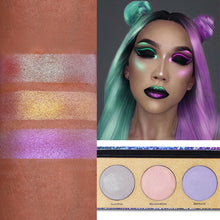 Load image into Gallery viewer, UCANBE Crystal Sugar Eyeshadow 3 Colors Palette