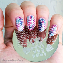 Load image into Gallery viewer, Stamping Plate Love Heart Nail Art