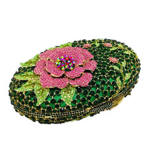 Load image into Gallery viewer, Rhinestone Crystal Flower Designer Party Purse