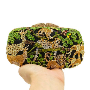 Rhinestone Jungle Designer Party Purse