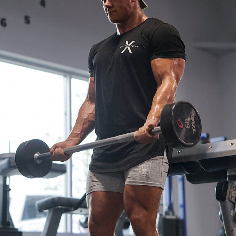 Leg Day Concrete Grey Shorts