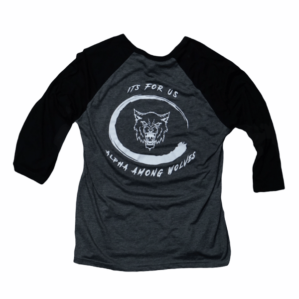 Grey/Black Alpha Baseball Tee