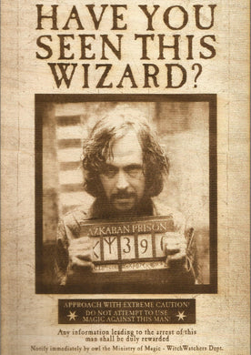 Harry Potter - Sirius Black (The Prisoner of Azkaban) Wooden Wanted Poster - TantrumCollectibles.com