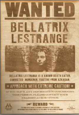 Harry Potter - Bellatrix Lestrange Wooden Wanted Poster - TantrumCollectibles.com