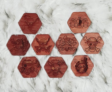 Wooden One Piece Coaster Set - TantrumCollectibles.com