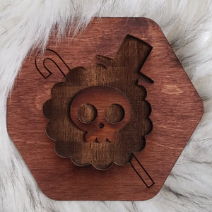 Wooden One Piece Coaster-Brook - TantrumCollectibles.com
