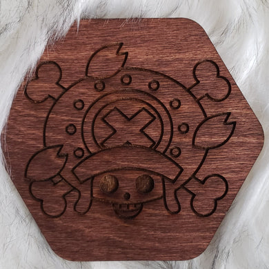 Wooden One Piece Coaster-Chopper - TantrumCollectibles.com