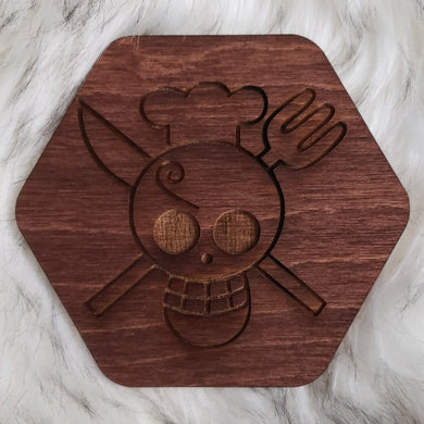 Wooden One Piece Coaster-Sanji - TantrumCollectibles.com
