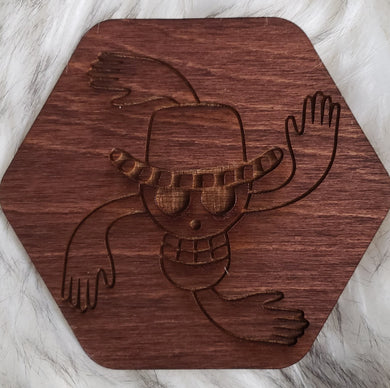 Wooden One Piece Coaster-Nico - TantrumCollectibles.com