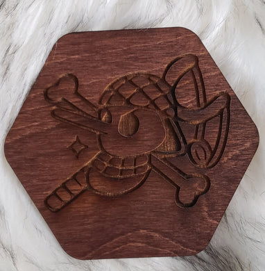 Wooden One Piece Coaster-Usopp - TantrumCollectibles.com