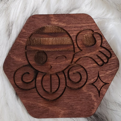 Wooden One Piece Coaster-Nami - TantrumCollectibles.com