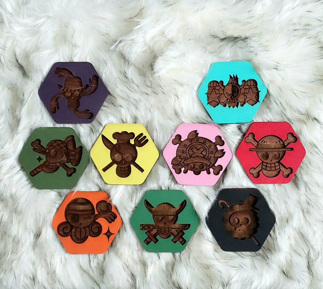 Wooden One Piece Coasters-Colored Set - TantrumCollectibles.com