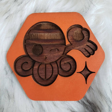 Wooden One Piece Coasters-Colored- Nami - TantrumCollectibles.com