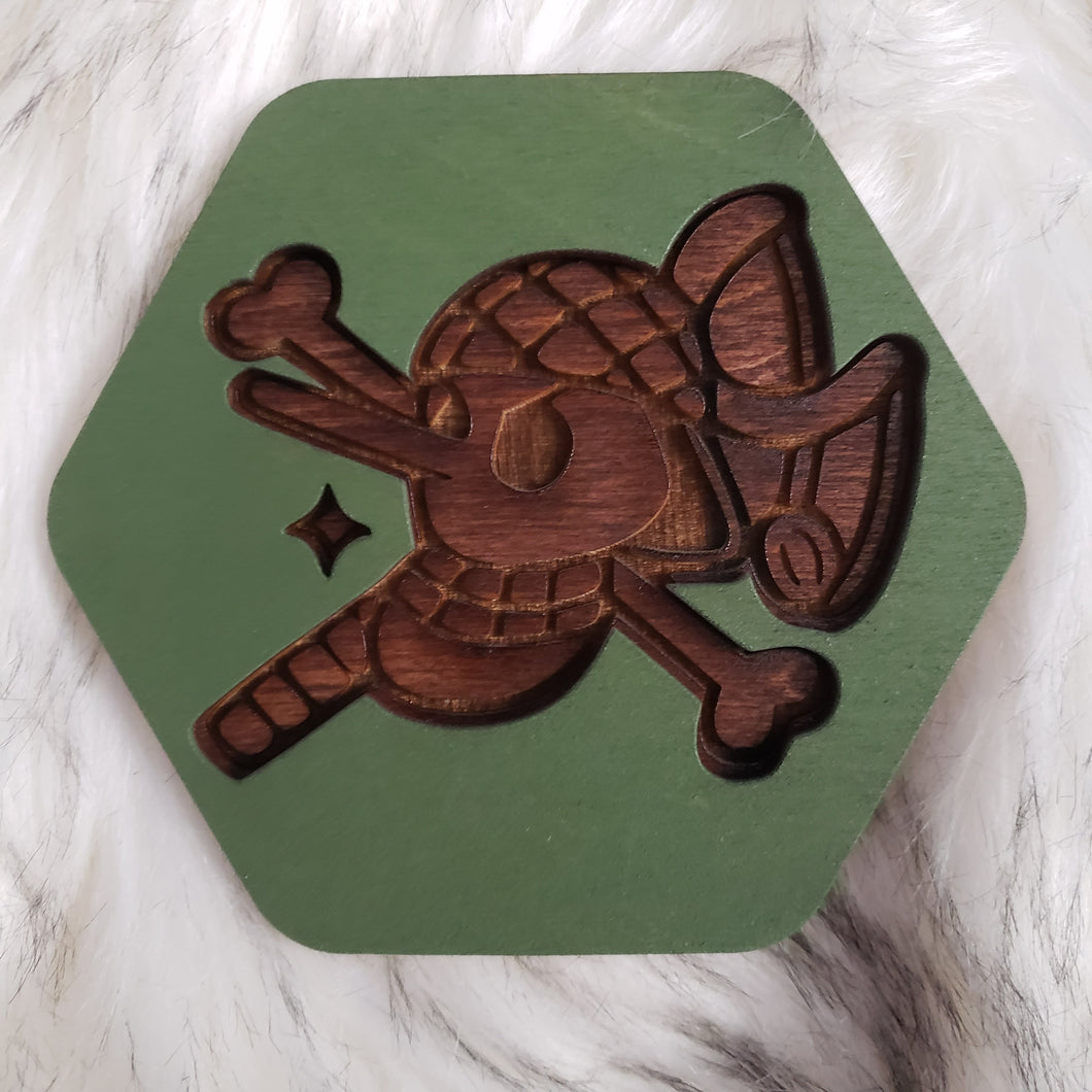 Wooden One Piece Coasters-Colored- Usopp - TantrumCollectibles.com
