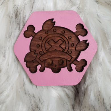 Wooden One Piece Coasters-Colored- Chopper - TantrumCollectibles.com