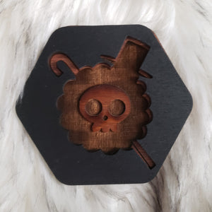 Wooden One Piece Coasters-Colored- Brook - TantrumCollectibles.com