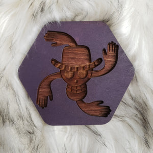 Wooden One Piece Coasters-Colored- Nico - TantrumCollectibles.com