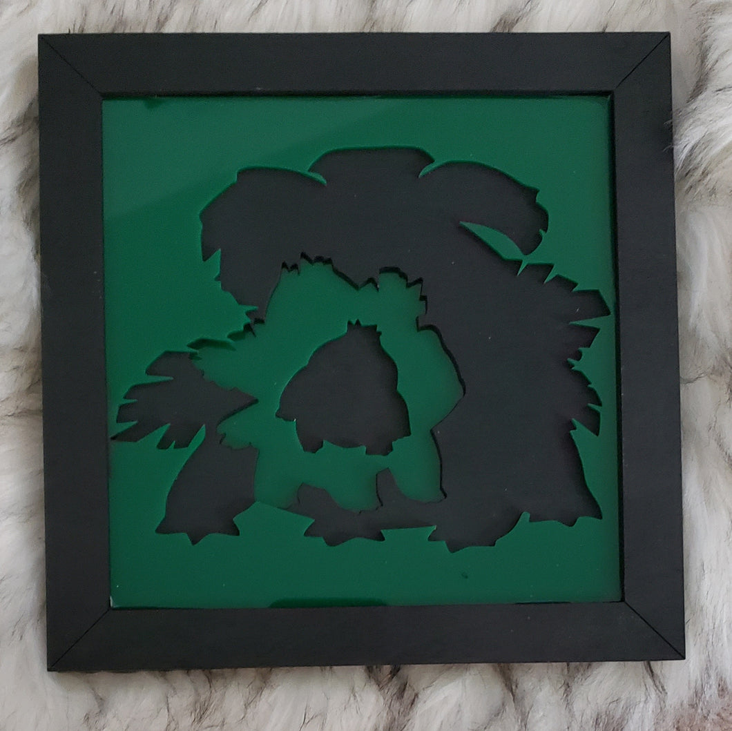 Pokemon Evolution 3D Wall Art (Bulbasaur)