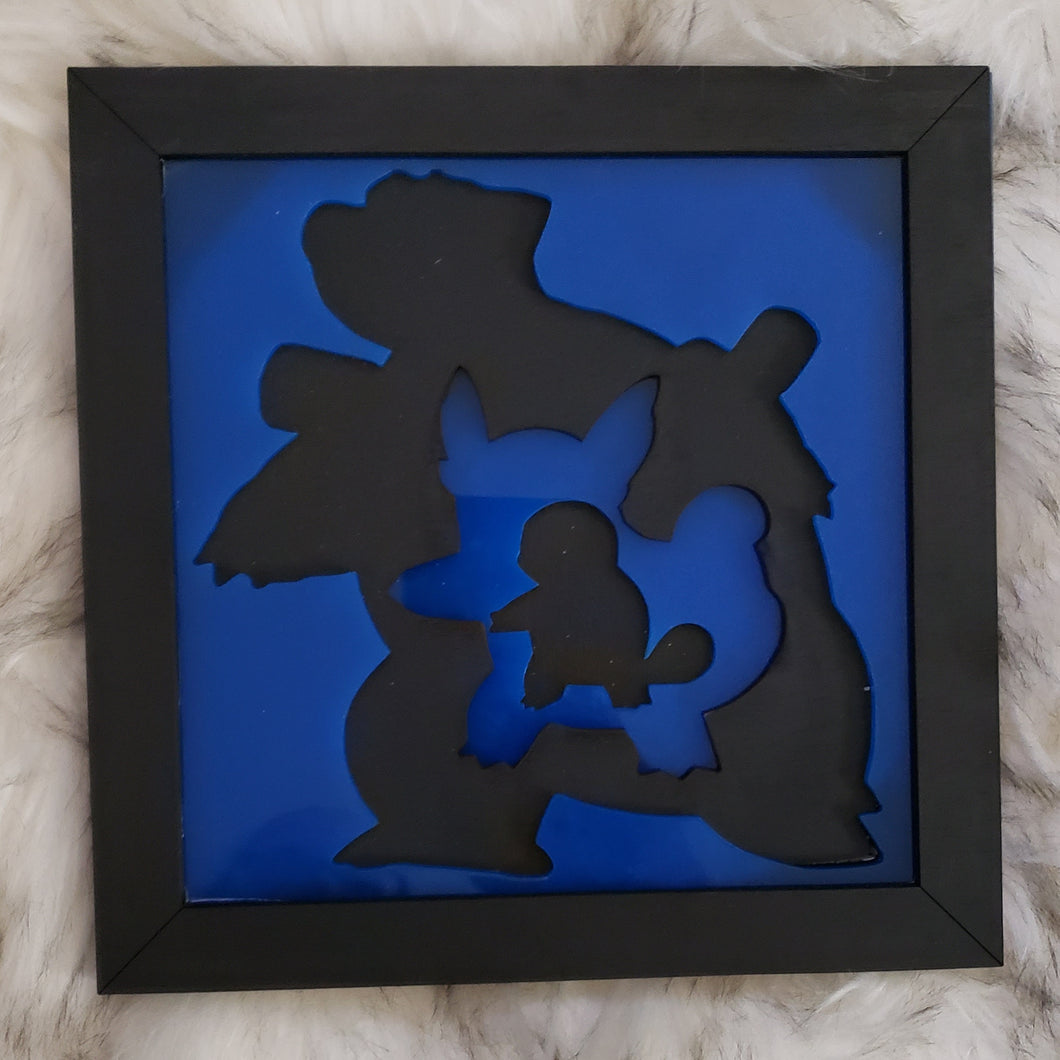 Pokemon Evolution 3D Wall Art (Squirtle) - TantrumCollectibles.com