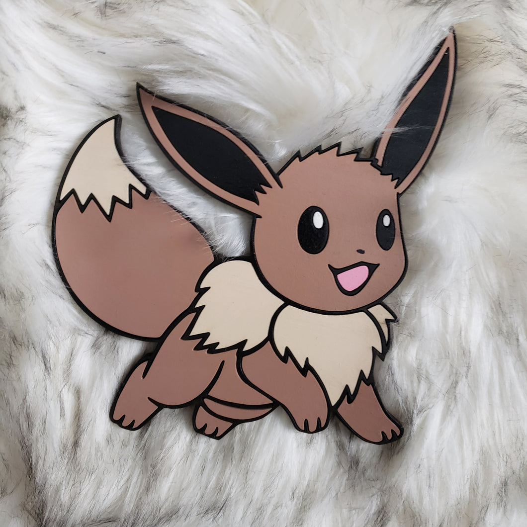 Pokémon- Wooden Wall Art- Eevee